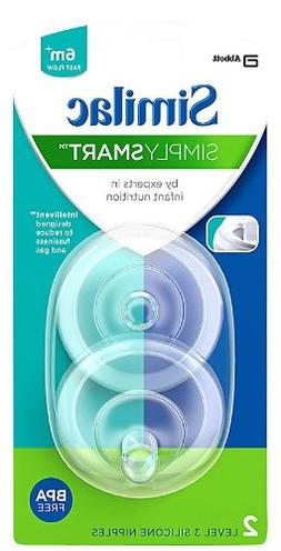 New Similac SimplySmart Level 3 Fast Flow Nipple 2-Count 6M+