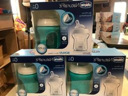 LOT Chicco NaturalFit BPA-Free Glass Baby Bottle 0M+ 5oz 2-P