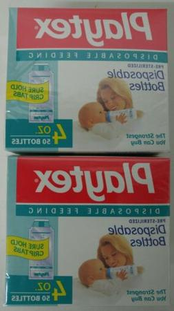 Lot of 100- Playtex ULTRASEAL Disposable Pre Sterilized Baby