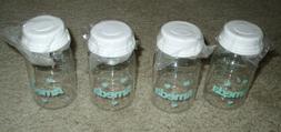 Lot of 4 AMEDA BOTTLES w/ Lids 4 oz BPA Free NEW