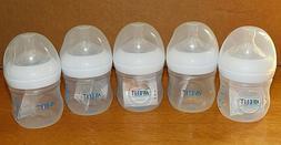 Lot of 5 Philips Avent Plastic Baby Bottles 4oz - NEW