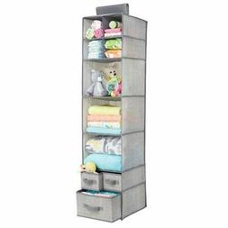 mDesign Soft Fabric Over Closet Rod Hanging Storage Organize