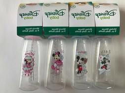 Disney Baby Minnie Mickey 10 oz Bottles + Nipples BPA Free N