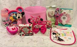 MINNIE MOUSE EASTER/GIFT BASKET FOR BABIES/TODDLERS-BIB, BRU