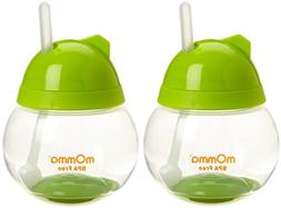 Lansinoh mOmma Straw Cup, Green, 2 Count