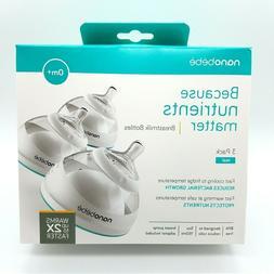Nanobebe Breastmilk Baby Bottles 0m+ Newborn Stage 1 5oz/150