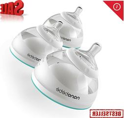 nanobebe Breastmilk Baby Bottles for Breastfed Babies, Breas