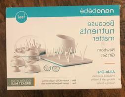 nanobébé Newborn Breastfeeding Bottles & Sterilization Kit