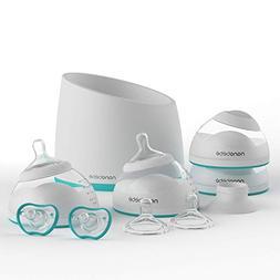 nanobebe Bottle Newborn Feeding Starter Set, Anti Colic, Pre