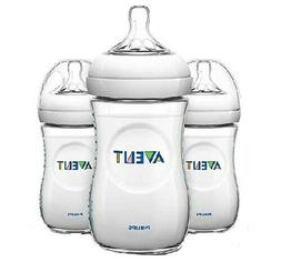 Philips Avent Natural 3-Wide Neck 9 oz Baby Bottles 1M+