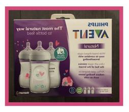Philips Avent Natural Baby Bottle 3 Pack With Pick Elephant