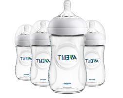 Natural Baby Bottle 9oz 4pk Scf013/47 Ultra Soft Flexible Ni