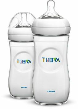 Philips Avent Natural Baby Bottle, Clear, 11oz, 2pk, SCF016/