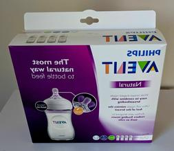 Philips Avent Natural Baby Bottle, Clear, 9oz, 4pk, SCF013/4