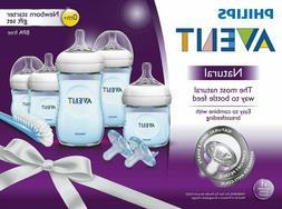 Philips Avent Natural Baby Bottle Gift Set:5 Bottles, 2 Paci