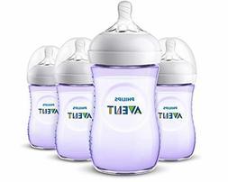 Philips Avent Natural Baby Bottle, Purple, 9oz 4pk, SCF013/4