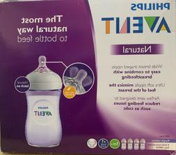 Philips Avent Natural Feeding Baby Bottle Purple 9 oz. 4 pac