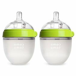 Comotomo Natural Feel Baby Bottle, Double Pack Green, 150ml