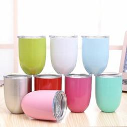 New 10oz Egg Cocktail Tumbler Wine Cup Stainless Steel Metal