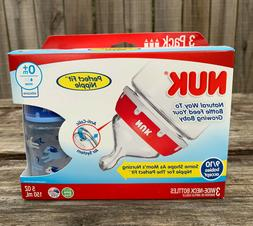 NEW 3 pk. NUK® Bottles with Perfect Fit™ Nipple, Anti-col