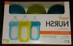 NEW IN SEALED BOX  8-OZ Baby Bottles Boon Nursh 3m+ Stage 2
