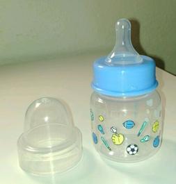 NEW Nurser Baby Boy Bottle 2 oz for Preemie/Newborn nipple R