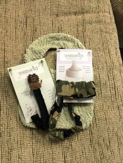 NEW Binksters Baby Gift Set-Green Bib, Camo Bottle Tether &