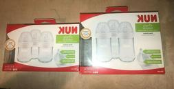 NEW NUK Simply Natural Glass Baby Bottles 3 pack 4 Oz slow 0