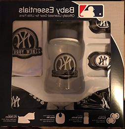 New York Yankees 5 Piece Baby Gift Set 2 Pacifiers Pre Walke
