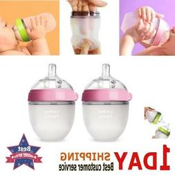 Comotomo Newborn Bottles Slow Flow Anti Colic BPA Free For G