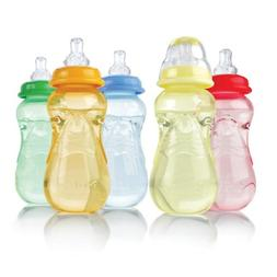 Nuby 3-Pack Non-Drip Standard Neck Bottles  - pink/purple, o