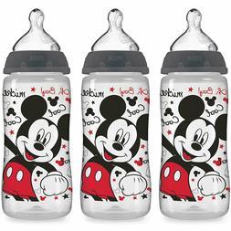 NUK 3 Pack-Disney Baby Large Bottle 10 Oz Medium Flow,Mickey