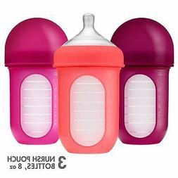 Boon, NURSH Reusable Silicone Pouch Bottle, Air-Free Feeding