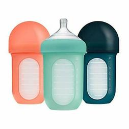 Boon Nursh Reusable Silicone Pouch Bottles - |Multicolor)