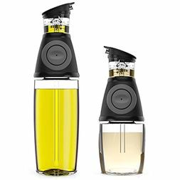 Oil & Vinegar Dispenser Set with Drip-Free Spouts - 2 Pack I