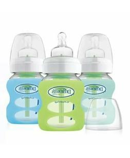 Dr. Brown's Options 3 Piece Wide Neck Glass Bottle in Silico