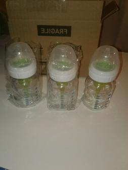 Dr. Brown's Options+ Wide-Neck Glass Baby Bottles, 5 Ounce,