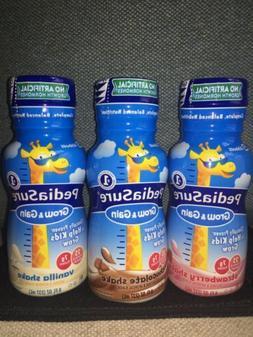 Pack of 3 8-Oz Bottles Pediasure Gain And Grow Strawberry, V