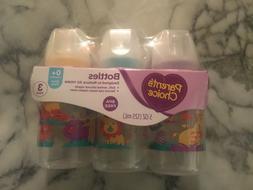 Parents Choice 3 Pack 5oz. Slow Flow Nipple Bottles 0+ Month