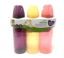 PARENT'S CHOICE BABY COLORED BOTTLES Girls 3 Pack Newborn