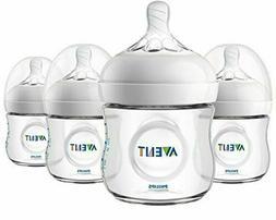 Philips Avent Natural Baby Bottle, Clear, 4oz, 4pk, SCF010/4