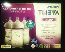 PHILLIPS AVENT..NATURAL..1m+..3-PACK..WIDE-NECK..9oz BPA-FRE