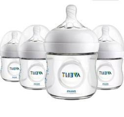Phillips Avent Natural Bottles 4 oz BPA Free Lot Of 4