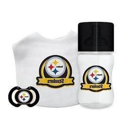 Pittsburgh Steelers Infant Baby Fanatic Gift Set Bottle Bib