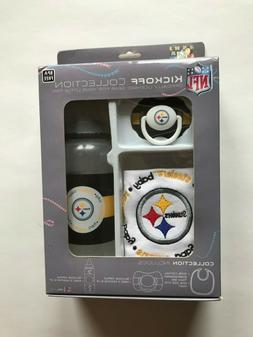 NFL PITTSBURGH STEELERS KICKOFF COLLECTION BABY BIB PACIFIER