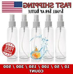 Empty Plastic Spray Bottle with Cap, 2oz/60 mL, Transparent