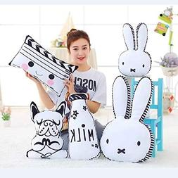 Plush Pillow - Decoration Toys for Kids Rabbit Face Stuffed