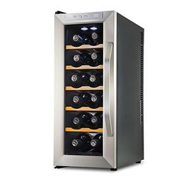 Ivation Premium Stainless Steel 12 Bottle Thermoelectric Win