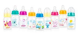 Nuby Printed Non-Drip Bottle, 4 Ounce, Colors May Vary