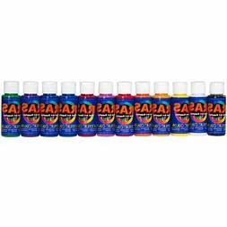 RAS Acrylic Paint for Kids Set of 12 2 oz. Bottles - Basic C